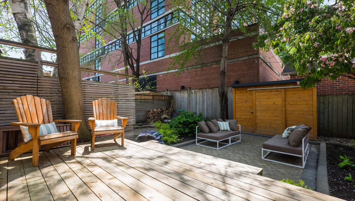 106 Sumach St - Deck and shed